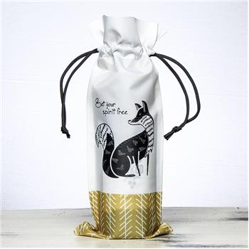 BLACK AND WHITE WINE BAG FOX (F16)