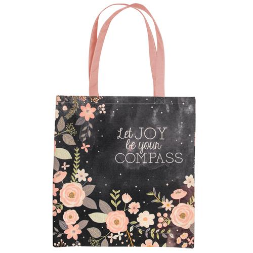 MARKET TOTE CHARCOAL FLOWER (F18)
